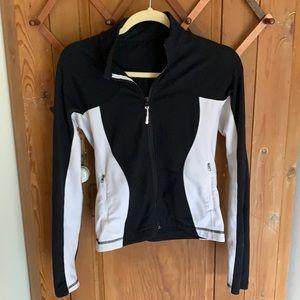 Lululemon black /white athletic Jacket